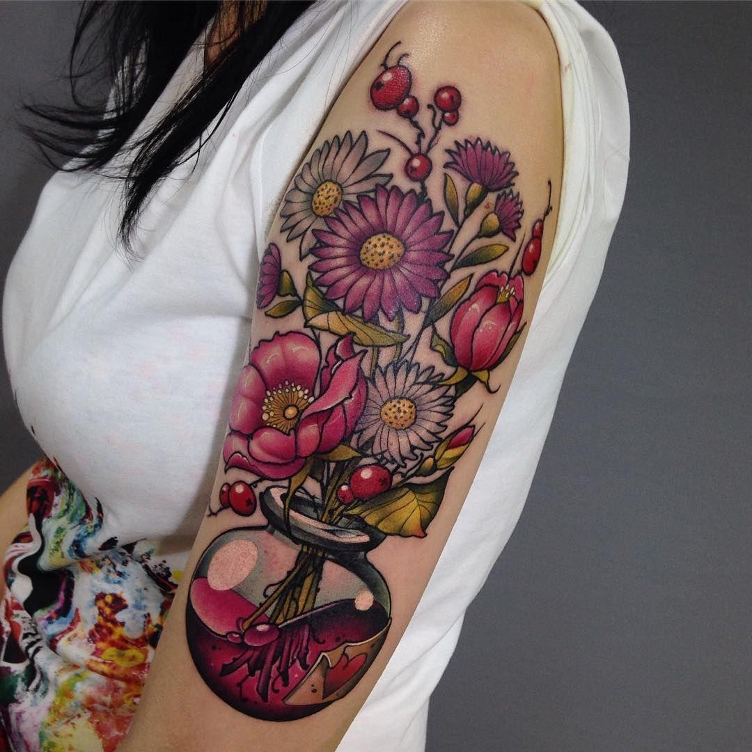 125 Best Flower Tattoos Body Tattoo Art