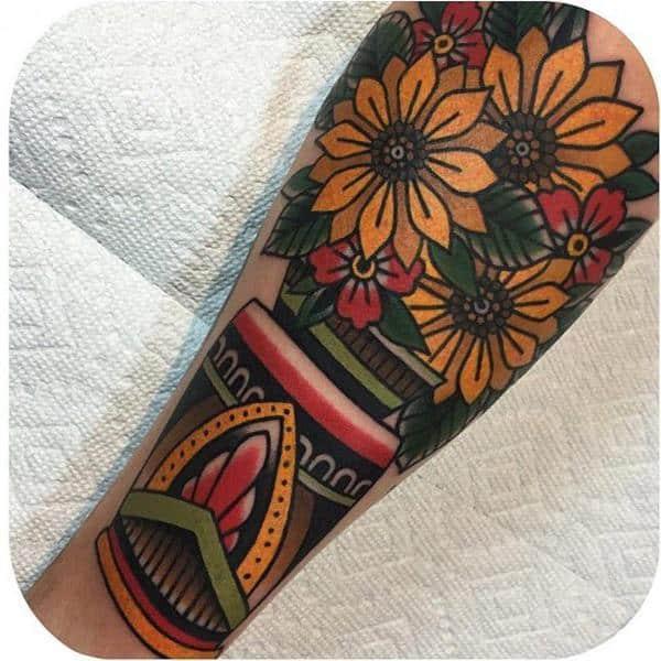 sunflower-tattoo