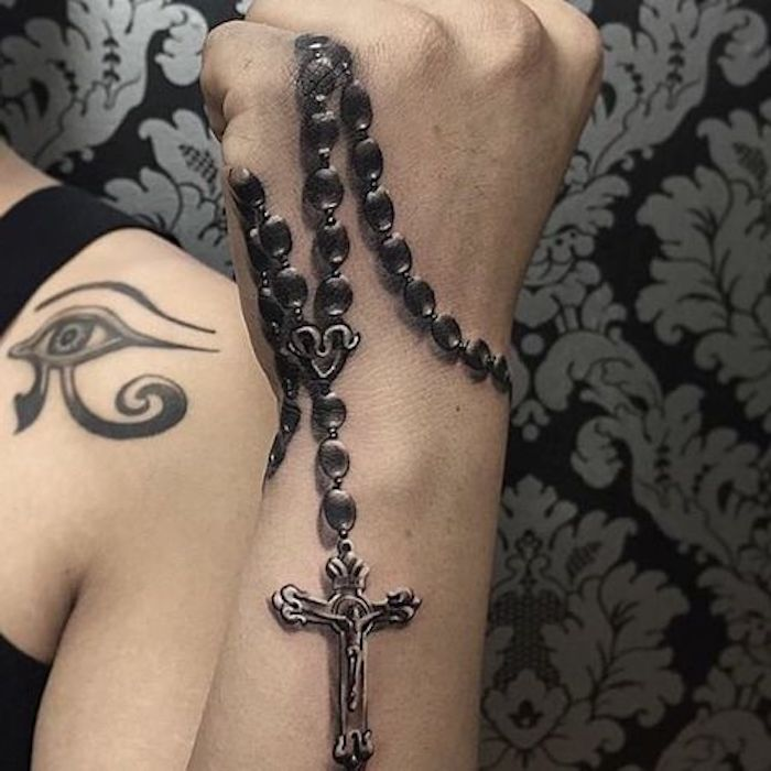 150 Top Rated Amazing Rosary Tattoo Designs This Year