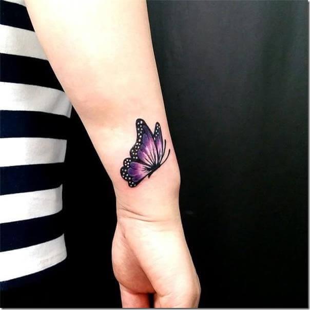 Woman Butterfly Hand Tattoo Tattoo Design