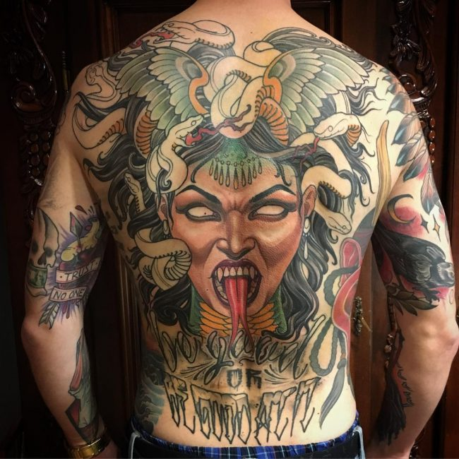 Medusa Artwork Tattoo: 30+ Scary Medusa Tattoos Design Ideas And Placement Tips