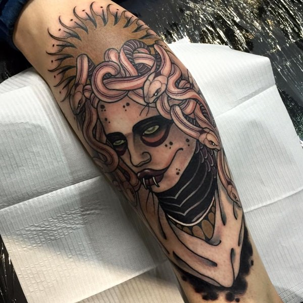 Teardrop Tattoo Placement: 30+ Scary Medusa Tattoos Design Ideas And Placement Tips