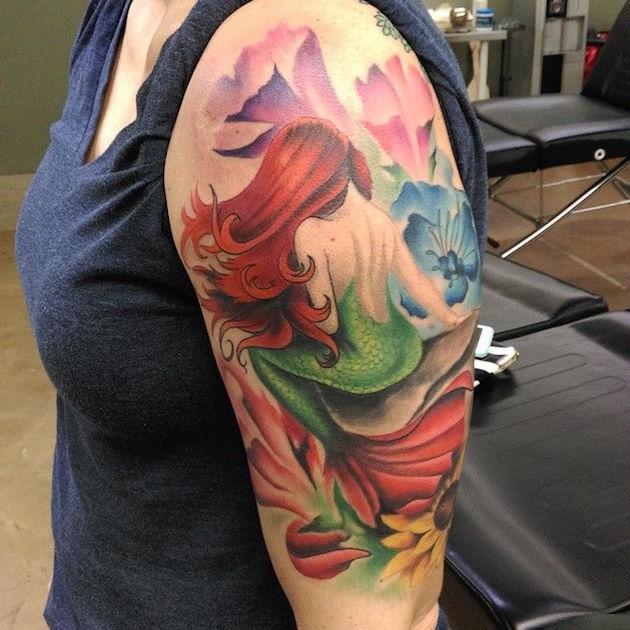 125 Fascinating Beautiful Sea mermaid tattoo for ladies
