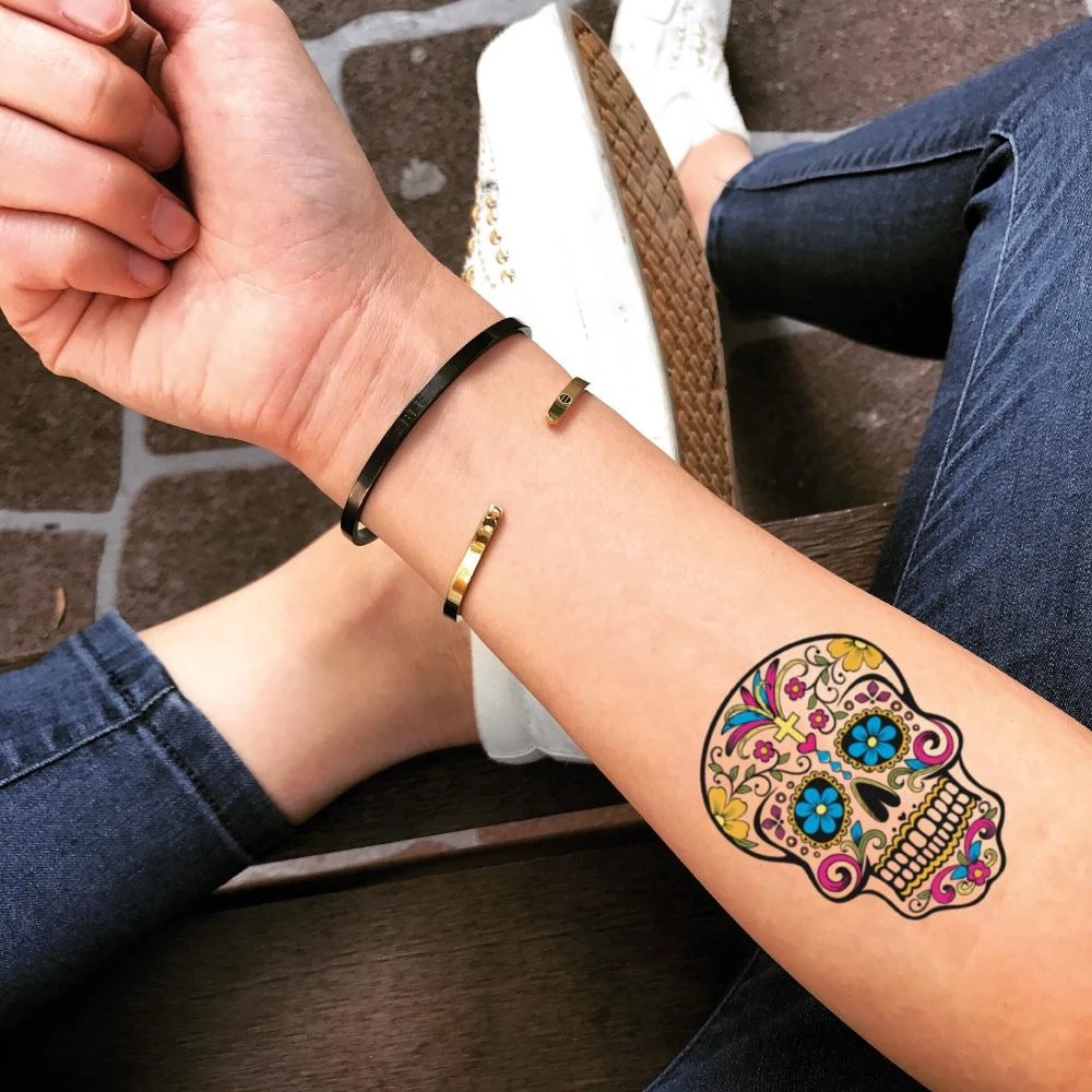 10+ Astonishing sugar skull tattoo designing ideas with meanings
