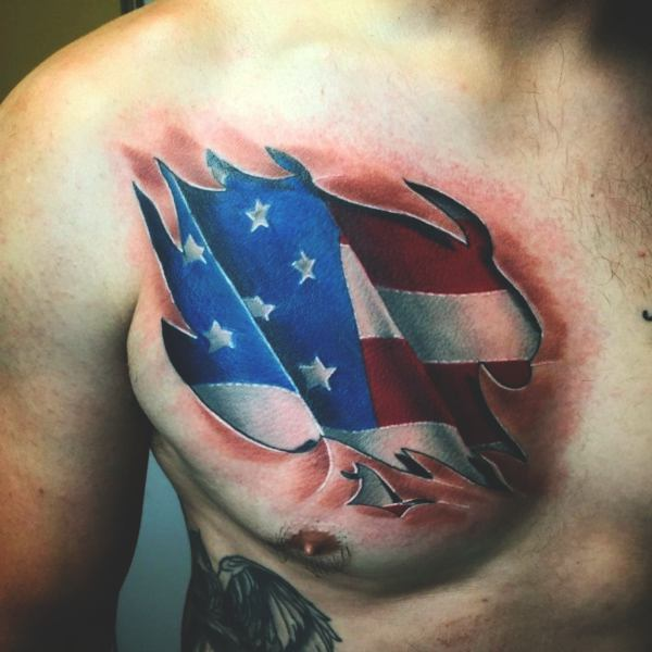 155 Patriotic tattoo idea to honor your nation