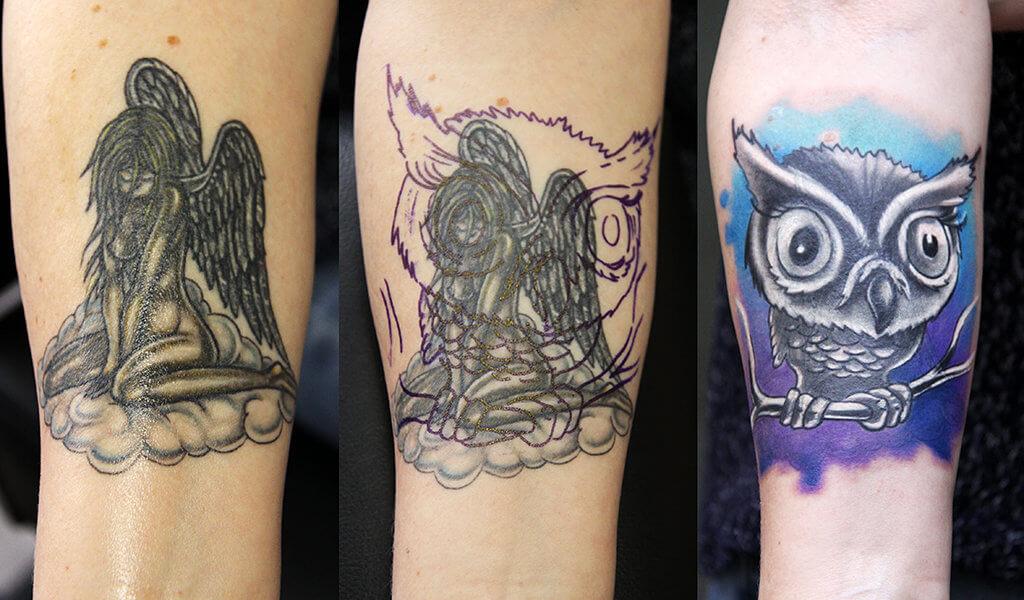 Cheerful And Ravishing Tattoo Cover Up