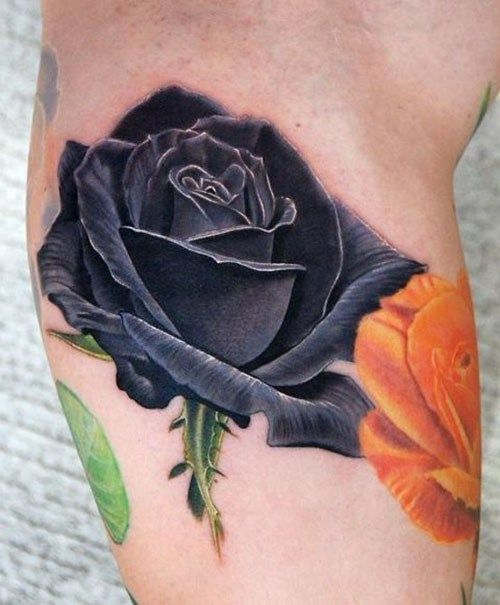Stunning Black Rose Tattoos to Choose From