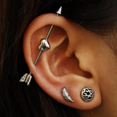 Bold and Exciting Ear Piercing Ideas and complications of ear piercing
