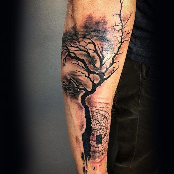 Unterarm tattoo wald männer 60 Unterarm