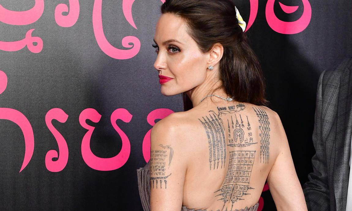 Adorable Hollywood Actress Angelina Jolie tattoo with their meanings
