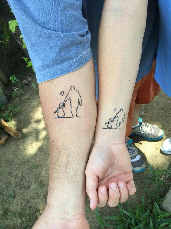 father-daughter-tattoos