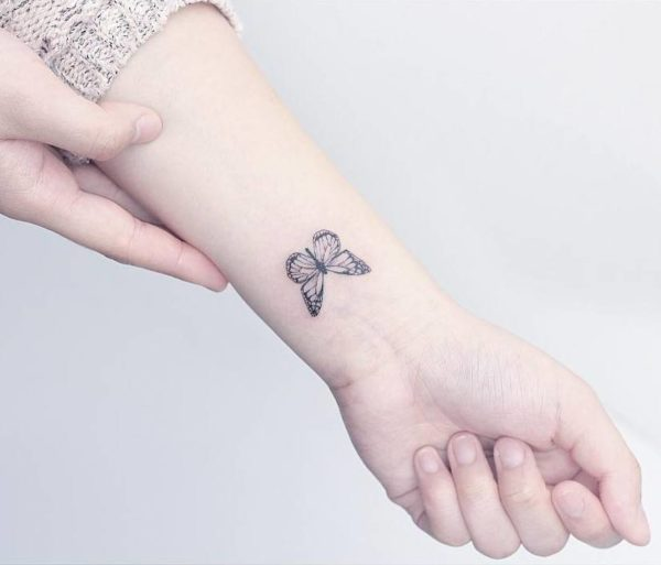 Super Cool Small Butterfly tattoo images