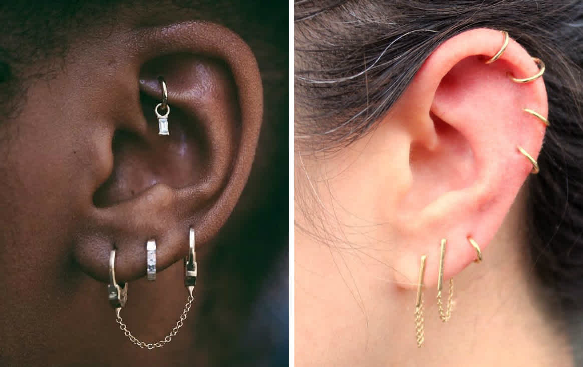 Different Types Of Ear Piercing Ideas And Jewelry Body Tattoo Art