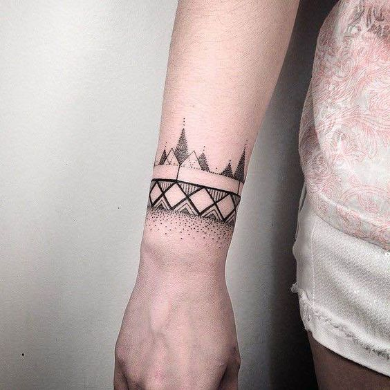 Mesmerizing armband tattoo for both boys and girls