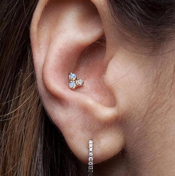 Different types of Ear piercing ideas and Jewelry