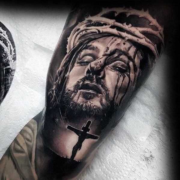 Lovable Jesus tattoos image to show your religious faith