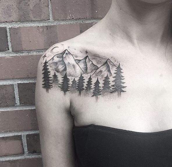 Beautiful nature inspired Mountain tattoo theme ideas