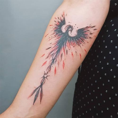 Scary and fierce phoenix tattoo ideas with their meaning