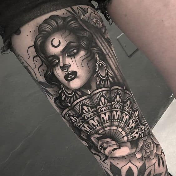 Traditional and tribal style gypsy tattoo ideas