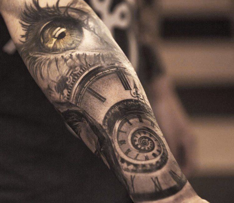 Meaning, symbolism, placemen and design ideas of time tattoo