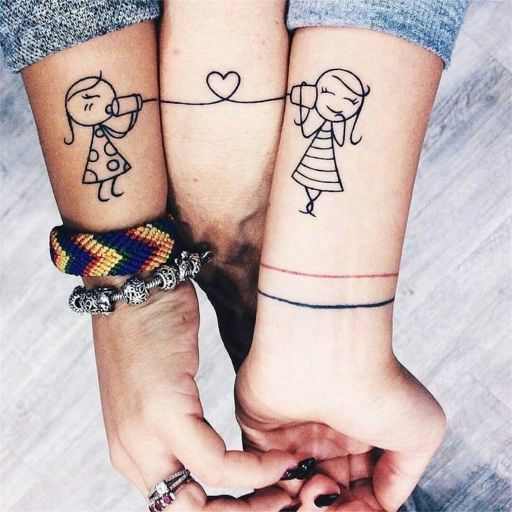 Best Matching Friend Tattoo to explore love