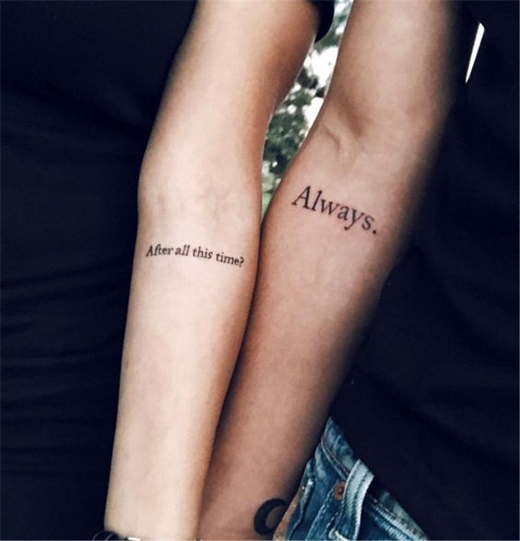 Great Matching Tattoo choice Ideas For Couples