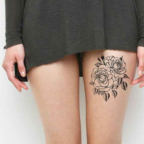 How to Choose the Best Rose Thigh Tattoo For You