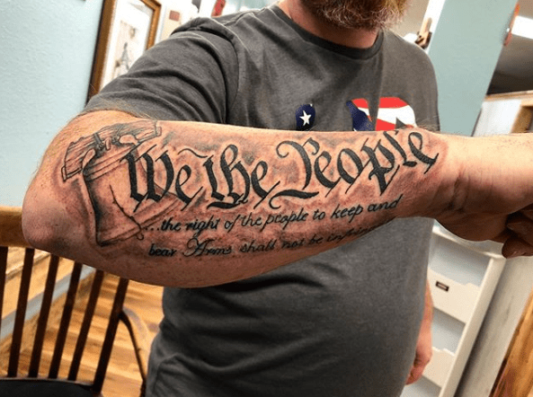We The People tattoo – A Simple Tattoo That Gets the Point of Freedom Across
