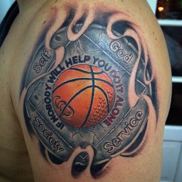 Cool Basketball Tattoos – Ideas For NBA Tattoos