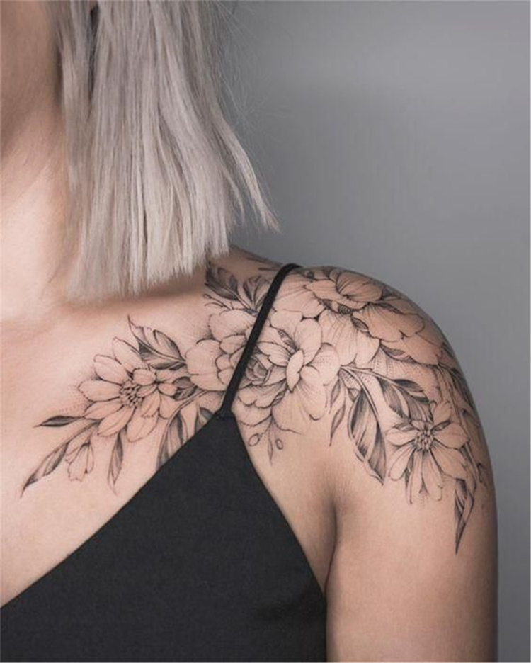The Beauty of Flower Shoulder Tattoos