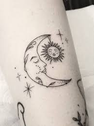 Tattoo Ideas for Moon and Stars
