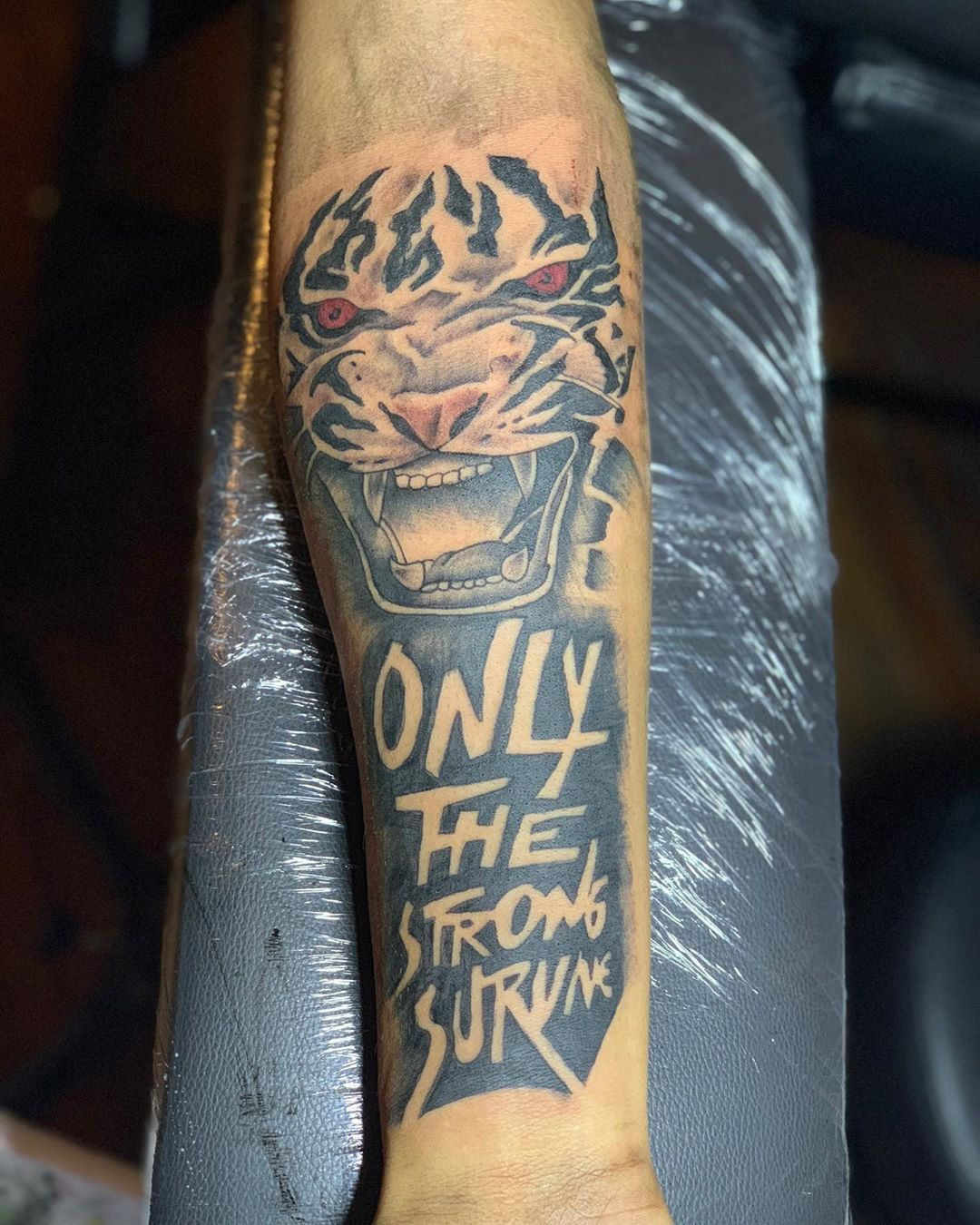 """40 Only the Strong Survive Tattoo"" Inspirational Quote and Trend"