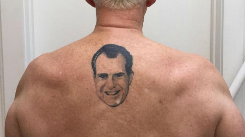 What's With the Small Tattoo on Roger Stone's Back?