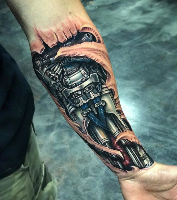 Best Biomechanical Tattoo Design Ideas For Guys