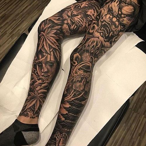 The Best Full Leg Tattoo