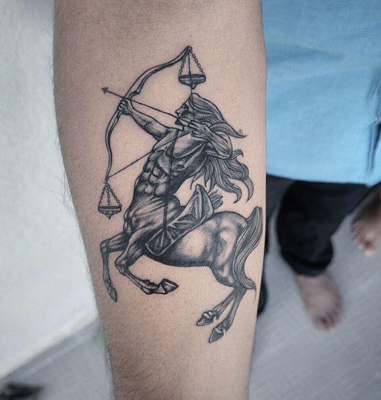Beautiful Sagittarius Tattoo For Men