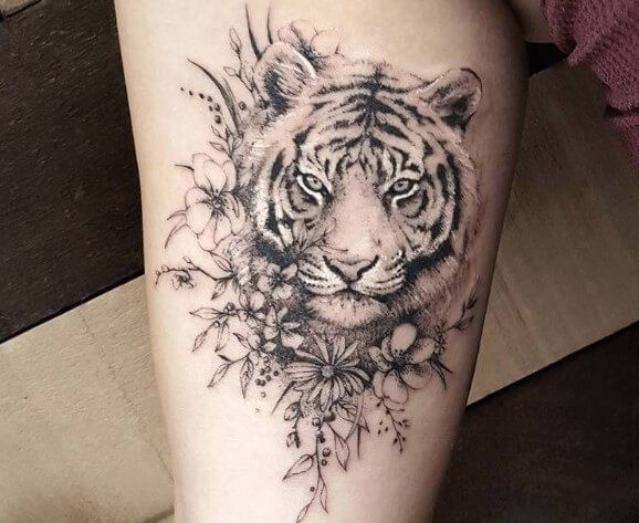 Sexy and Creative Tiger Tattoos For Females