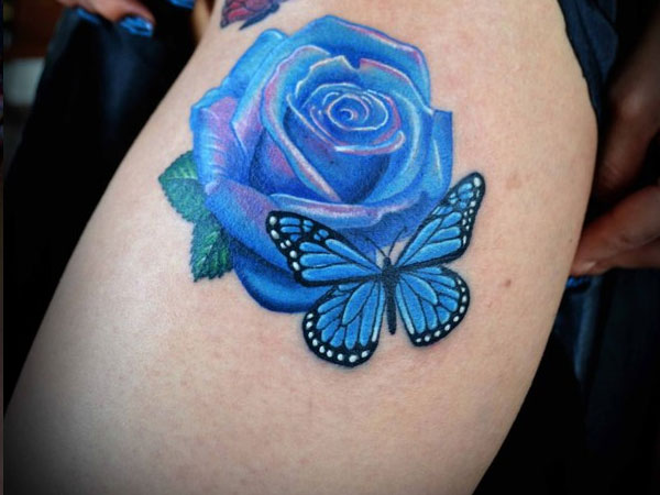 Cute Blue Rose Tattoo Meaning