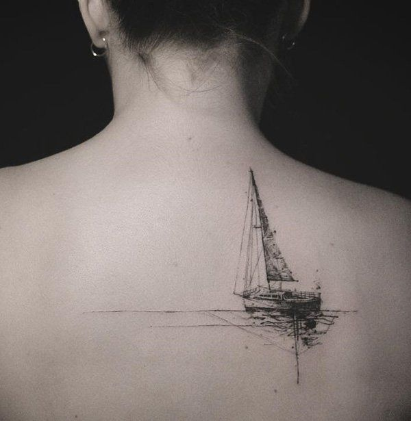 Creative Boat Tattoo Design Ideas