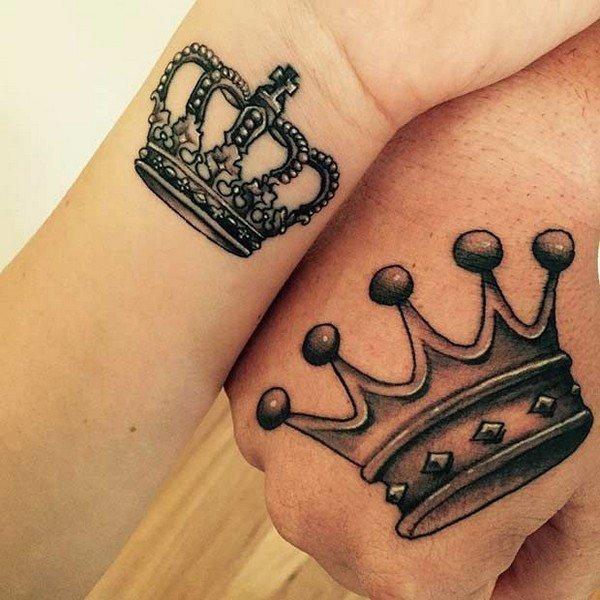 Attractive Crown Tattoo Design
