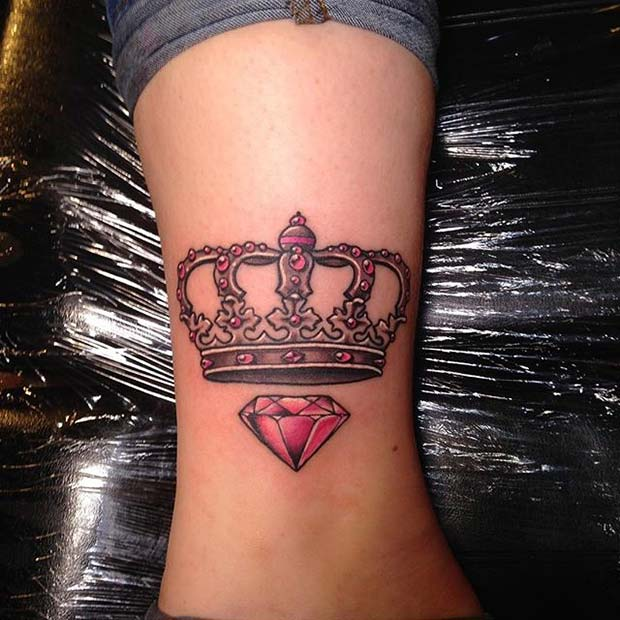 Crown Pictures For Women – Full Back With Flower Tattoo Meaning