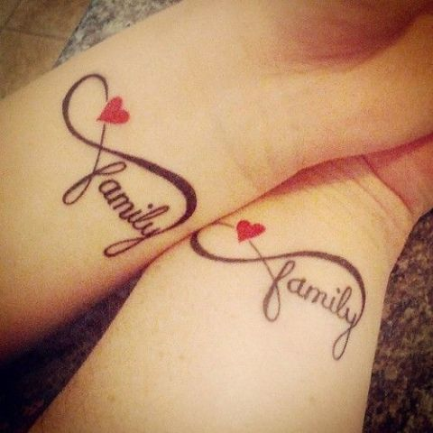 Family Infinity Picture design – For The Ultimate Tattoo