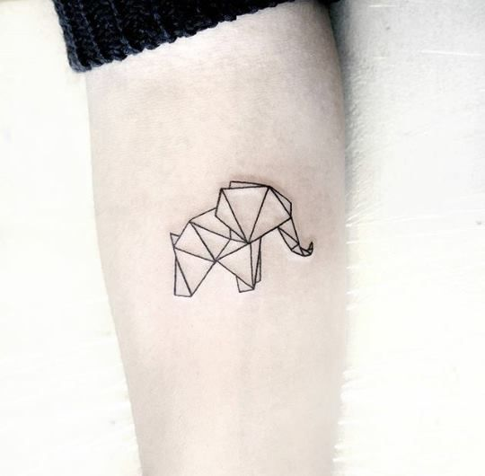 Awesome Geometric Elephant Tattoo design Ideas