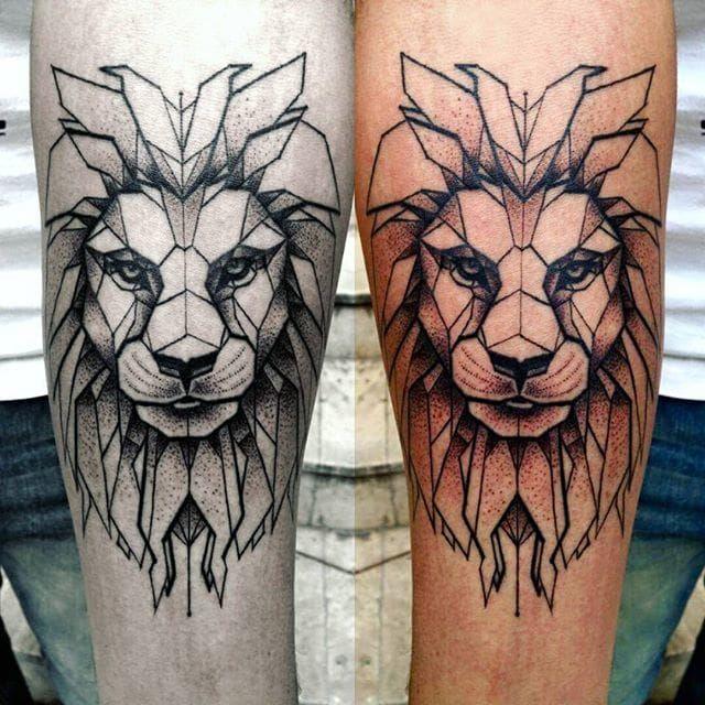 Geometric Minimalist Tattoo Picture design