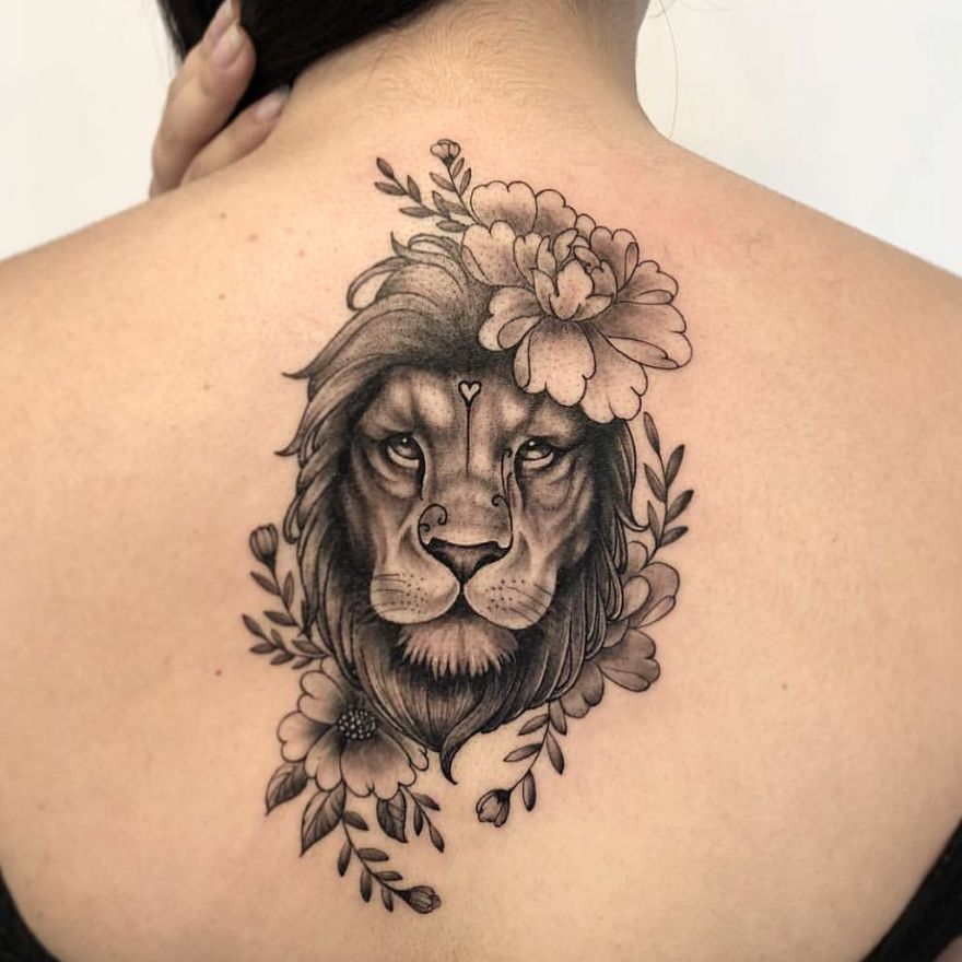 Girl Lion Tattoo design and Where to Find Tattoo designs