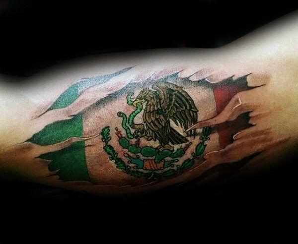 Modern Image ideas – The Mexican Flag Tattoo design