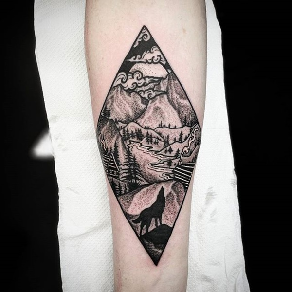Mountain Tattoo Image ideas – Tattoo Drawing For Girls