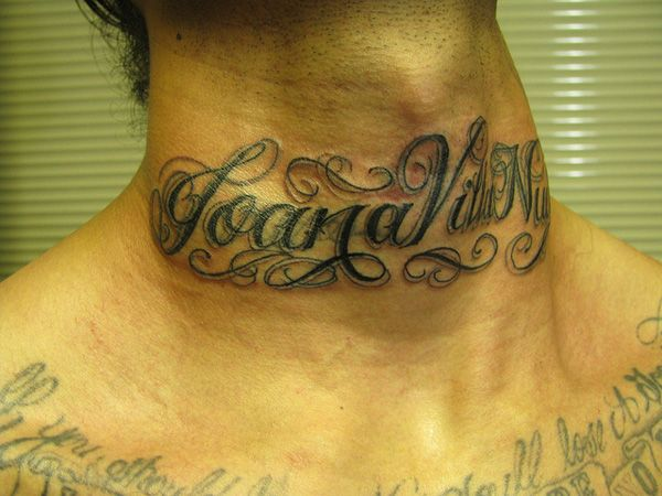 Name Tattoo On Neck – Tips To Find The Best Name Tattoo design Ideas