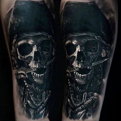 Best pirate skull tattoo Design ideas for men