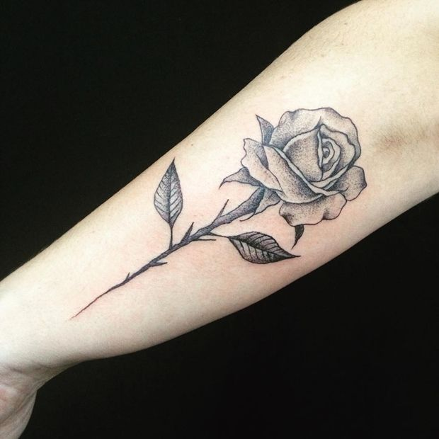 Best Picture design Ideas For a Rose With Stem Tattoo